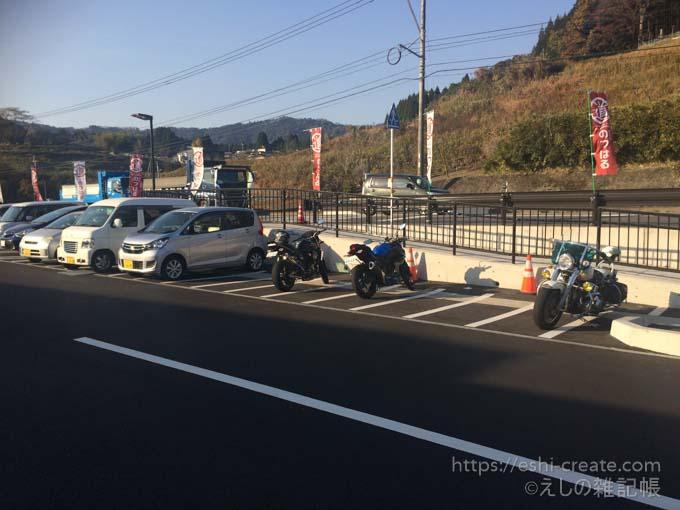 道の駅のつはる_バイク駐輪場