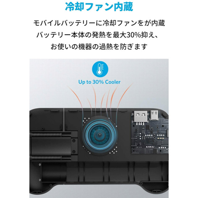 Anker_PowerCore Play 6700_冷却ファン